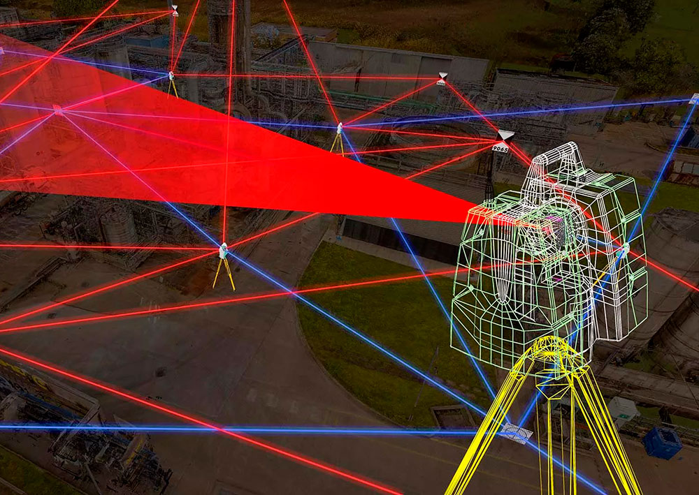 Схематическая сетка лазерного сканирования